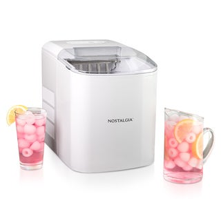 Nostalgia ICMWH 26-Pound White Automatic Ice Cube Maker