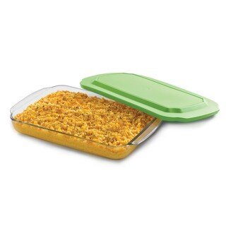 Libbey Baker's Basics 9-inch by 13-inch Glass Bake Dish with Plastic Lid