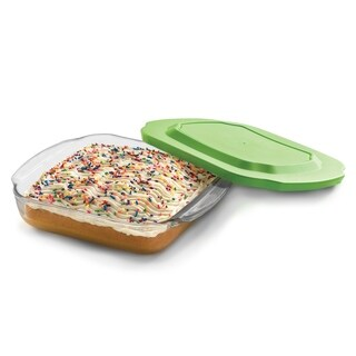 Libbey Baker's Basics 8-inch by 8-inch Glass Bake Dish with Plastic Lid
