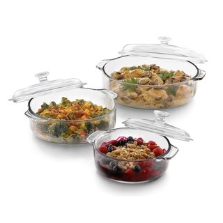 Libbey Baker's Basics 3-piece Glass Bake Set with 3 Covers