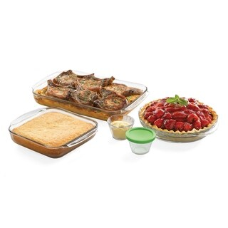 Libbey Baker's Basics 7-piece Glass Bakeware Set with 4 Lids