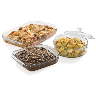 Libbey Baker's Basics 3-piece Glass Bake Set with Cover