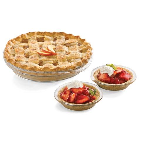 Libbey Baker's Basics 6-piece Glass Pie Set