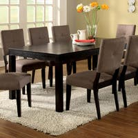 Furniture of America Rockwell Espresso Expandable Dining Table With 16-inch Leaf