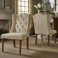 Gilderoy Button Tufted Wingback Dining Chairs (Set of 2) by iNSPIRE Q Artisan