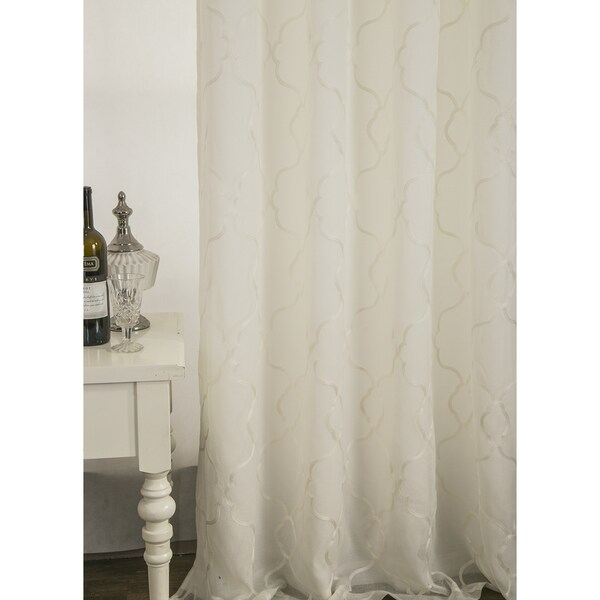Rt Designers Collection Crescent Embroidered 84 Inch Lined Curtain Panel Pair Free Shipping On Orders Over 45 Com 24628262