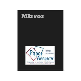 Cdstk Mirror 8.5x11 13pt Black 5pc