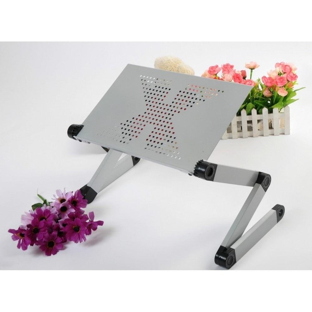Foldable Adjustable Ergonomic Laptop Table Bed Tray Cooli...