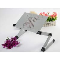Foldable Adjustable Ergonomic Laptop Table Bed Tray Cooling Pad