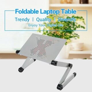 Portable Foldable Laptop Table with Mouse Pad and Cooling Fan