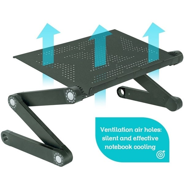 Shop Portable Foldable Laptop Table With Mouse Pad And