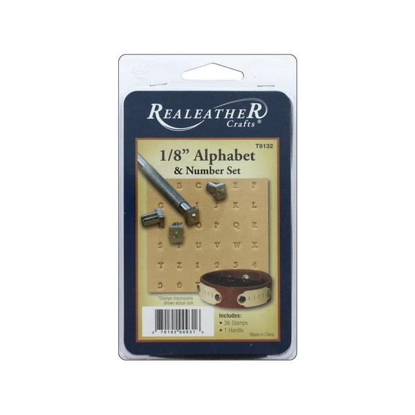 "Silver Creek Stamp Set 1/8"" Alphabet & #"