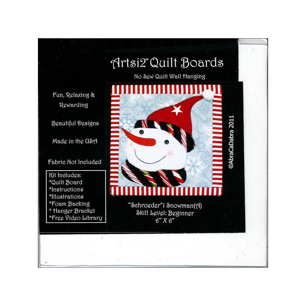 Artsi2 Quilt Board 6x6 Snowman Schroeder (Quilt Board 6x6...