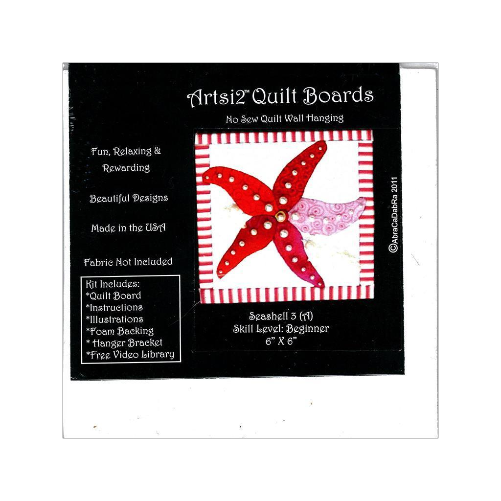 Artsi2 Quilt Board 6x6 Seashell #3 (Quilt Board 6x6 Seash...