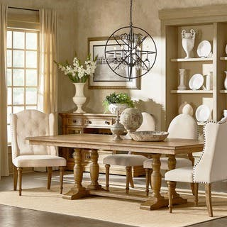 Gilderoy Natural Oak Finish Rectangular Extending Dining Set by iNSPIRE Q  Artisan. French Country Dining Room Sets For Less   Overstock com