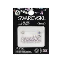 Cousin Swarovski Elements Hotfix 5mm Crystal AB 18pc