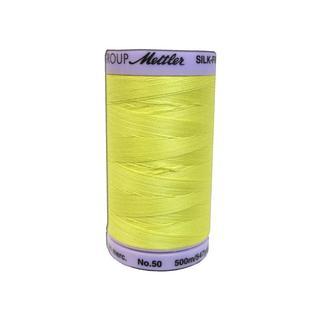 Mettler Silk Finish Cotton #50 547yd Lemon Zest