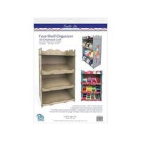 Build-Its Chip Organizer 4 Shelf Scalloped