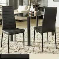 Milo Contemporary Faux Leather Dining Chairs (Set of 2) by iNSPIRE Q Bold