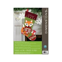 Dimensions Felt Applique Kit Woodland Stocking