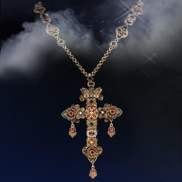 Shop Elvira S Gothic Jewel Cross Necklace Free Shipping
