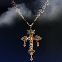 Elvira's Gothic Jewel Cross Necklace
