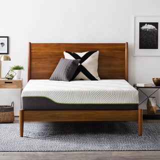 LUCID 10-inch Latex Hybrid Twin-size Mattress