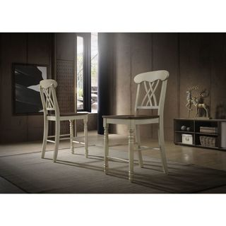 Country-style Counter-height Chairs (Set of 2)