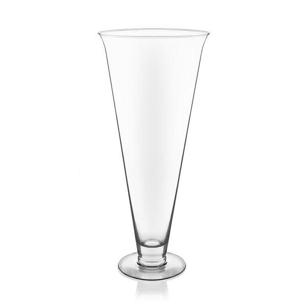 Shop Libbey Flare 18 Inch Glass Vase Free Shipping Today