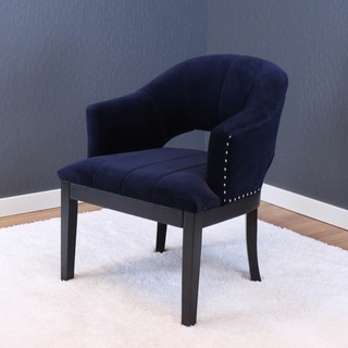 Preveza Dutch Velvet Upholstered Wood Arm Chair