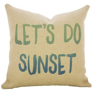 Let's Do Sunset Burlap 18 inch Throw Pillow