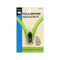 Dritz Fix A Zipper Size 5 Plastic Gunmetal 1pc