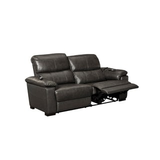 Oliver Pierce Cayden Top Grain Leather Reclining Sleeper Sofa