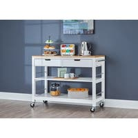 Carson Carrington Skovby 48-inch Kitchen Island with Drawers - White