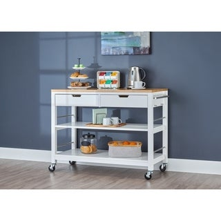 The Curated Nomad Embarcadero 48-inch Kitchen Island with Drawers - White