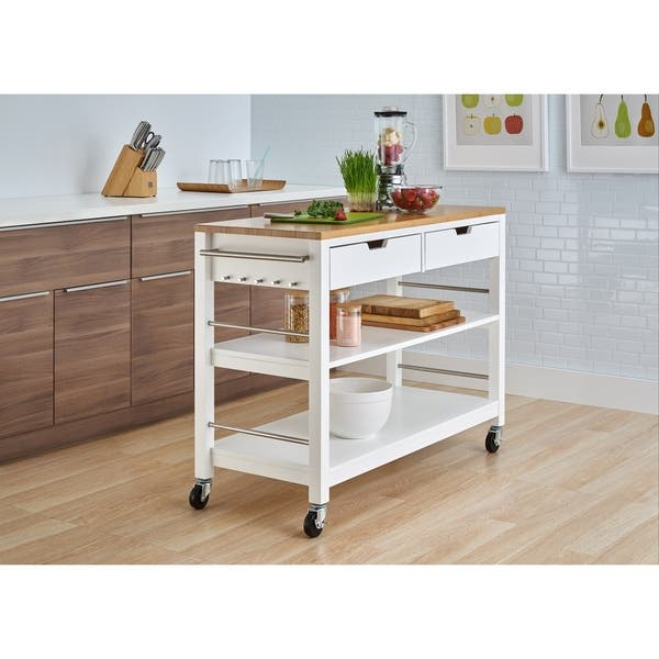 Carson Carrington Skovby 48 Inch Kitchen Island With Drawers Overstock 18520038