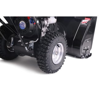 "AAVIX GAS 24"" 212CC 2-stage Self-propelled snow blower - Black"