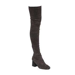 Beston EK37 Women's Stretchy Snug Fit Sock Knitting Thigh High Boot