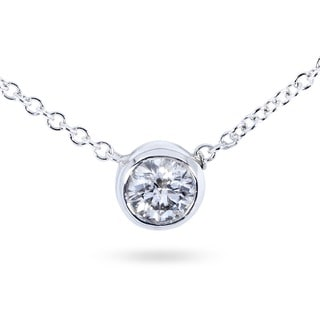 Annello by Kobelli 14k Gold 1/4ct Diamond Solitaire Necklace