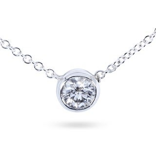 Annello by Kobelli 14k Gold 1/4ct Diamond Solitaire Necklace