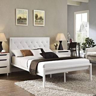 Porch & Den Silver Lake Lemoyne Full-size Vinyl Platform Bed Frame