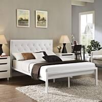 Porch & Den Silver Lake Manzanita Full-size Vinyl Platform Bed Frame
