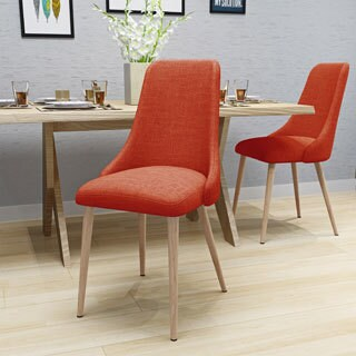 Sabina Mid Century Fabric Dining Chair (Set of 2) by Christopher Knight Home