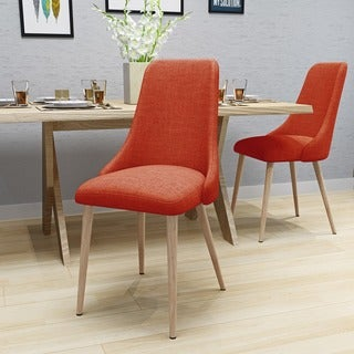 Link to Sabina Mid Century Fabric Dining Chair (Set of 2) by Christopher Knight Home Similar Items in Dining Room & Bar Furniture