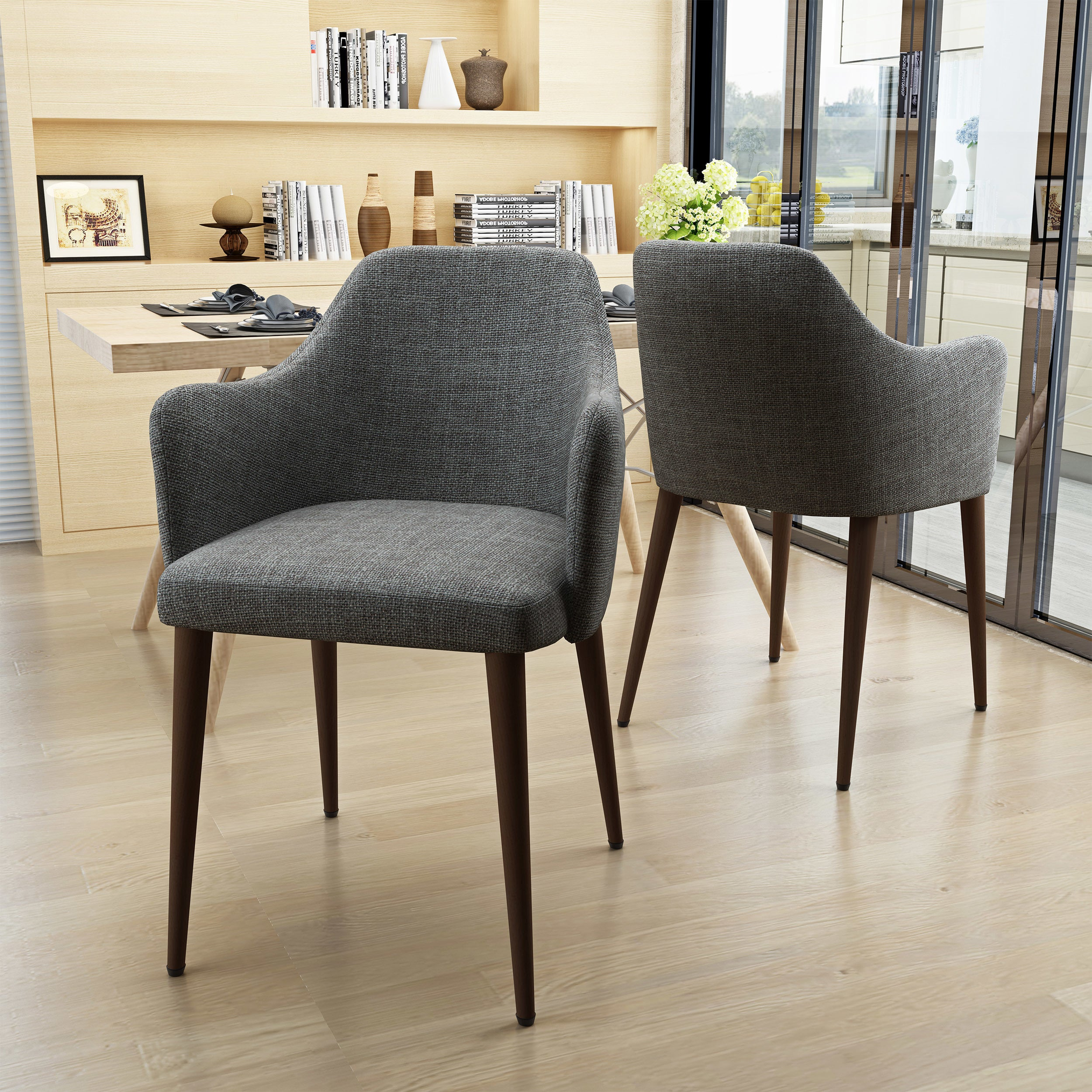 Cactus Yjcfurniture Dining Chairs Set Of 4 Mid Century Modern Side Chairs Retro Velvet Upholstered Dining Chair With Metal Tube Kitchen Dining Room Furniture Home Kitchen