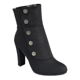 Forever FN77 Women's Side Zipper Wrapped Chunky Heel Ankle Booties