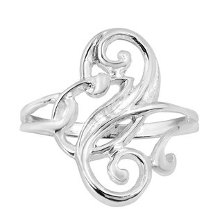 Glamorous Swirl Sterling Silver Ring (Thailand)