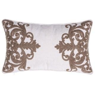 """Versailles Crewel Stitch Lumbar Pillow 12"""" x 20"""""""