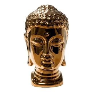 Copper Ceramic Buddha Head