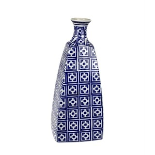 Gorgeous Ceramic Vase, Blue & White
